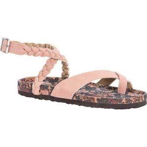 MUK LUKS Women's Estelle Ankle Strap Sandal Blush